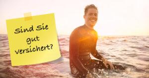 Surfer mit Versicherungen