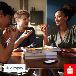 In der Sparkassen-App mit Giropay bezahlen, wenn man mit Freunden Pizza bestellt